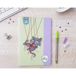 Cuaderno fino para dibujar.